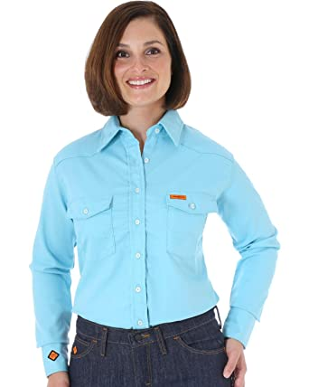 3be8eefebfd5 Wrangler Women s Flame-Resistant Long Sleeve Shirt - Frlw08q at ...