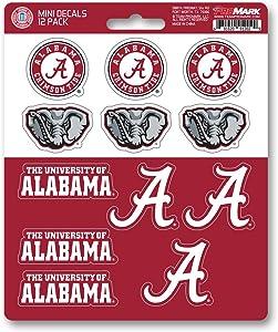 FANMATS ProMark NCAA Alabama Crimson Tide Decal Set Mini (12 Pack), Team Color, One Size