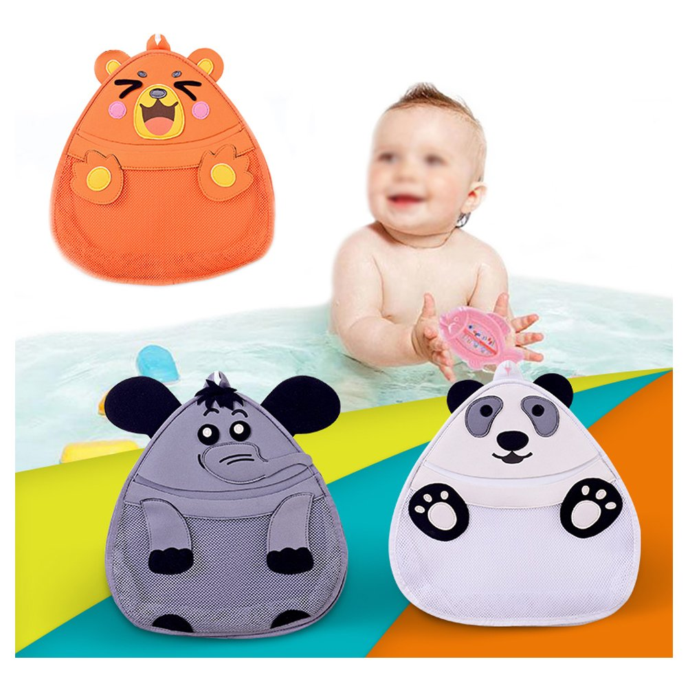 OWNFUN Bath Toy Animal Organizer - Bathroom Toy Mesh Net - Baby Toy Storage Holder with Heavy Duty Strong Suction Cup - Bathtub Shower Caddy Bag for kids & Toddlers, Mold Resistant, Panda by OWNFUN (Image #2)