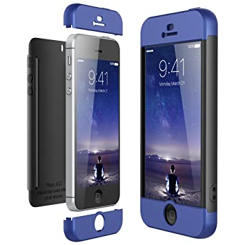 Funda iPhone SE / iPhone 5 / iPhone 5s, CE-Link Carcasa Fundas para iPhone SE / iPhone 5 / iPhone 5s, 3 en 1 Desmontable Ultra-Delgado Anti-Arañazos ...