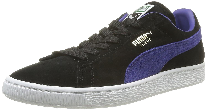 Puma Unisex Erwachsene Suede Classic + Low Top  Rot Schwarz  Noir Black/Spectrum Blue