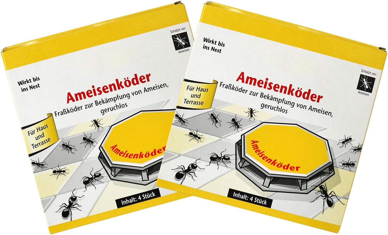 com-four® 8 latas de Cebo para Hormigas para el Control confiable de Hormigas