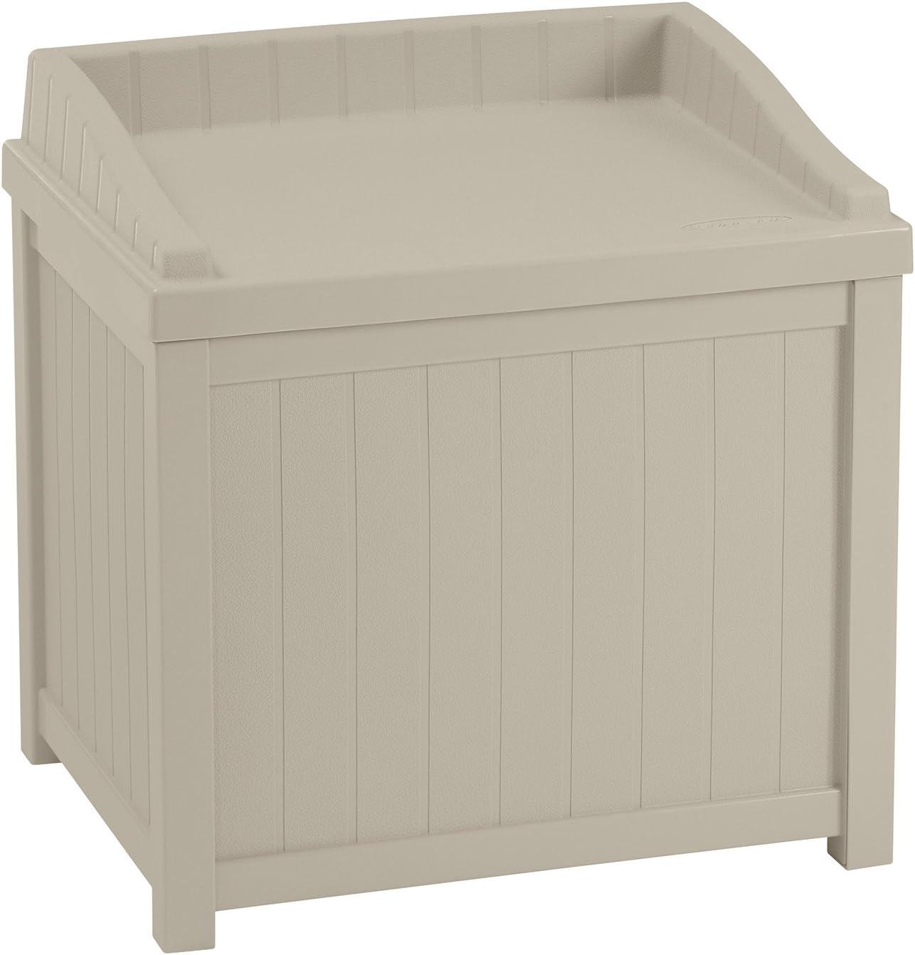 Suncast® ss1000 Caja de Almacenamiento para Asientos de jardín Apta para Interior y Exterior(83L de Capacidad -marrón/Java).