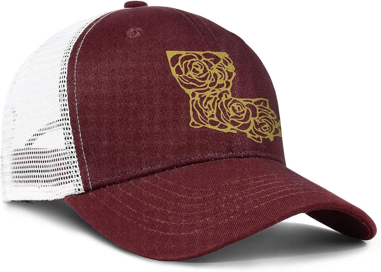 AkrCreative Louisiana Rose Men//Women Fashion Sports Hat Hip Hop Hat
