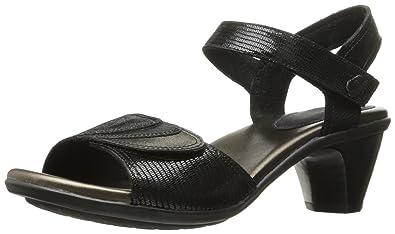 Aravon Women's Medici Heeled Sandal, Black, ...
