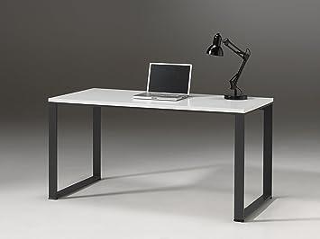 Vipack nibu1514 nixon bureau bois blanc 150 x 74 x 70 cm: amazon.fr