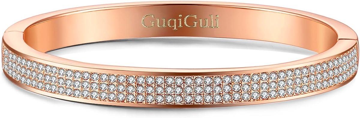 Amazon.com: GuqiGuli for Women! Swarovski Elements Crystal Pave ...