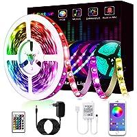 Tiras LED, L8star Tiras de Luces LED Smart 5050 Control APP,Luces Led Habitacion con Controlador Bluetooth Sincronizar…