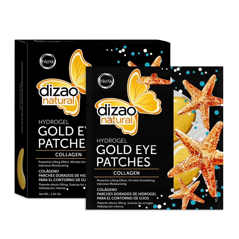 Dizao Natural Gold Eye Patches Hydrogel 100% Collagen 5 pairs