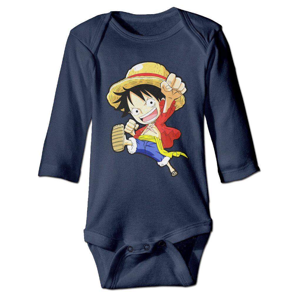 Amazon Com Popular Anime One Piece Monkey D Luffy Baby Onesie