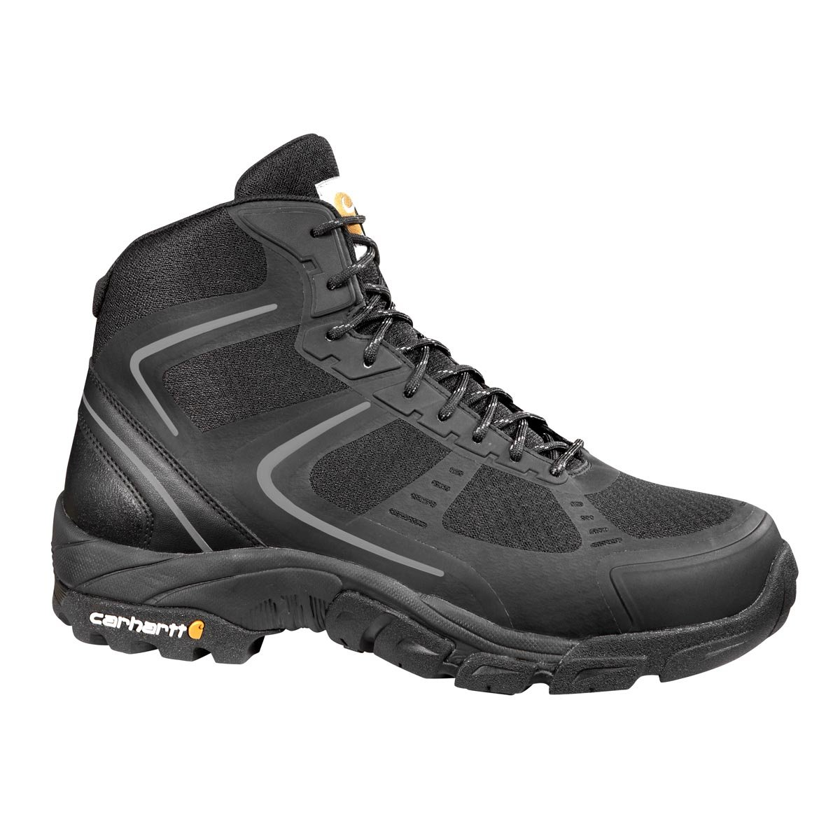Carhartt Men's CMH4251 6'' Lightweight FastDry Technology Steel Toe Hiker Boot, Black Mesh and Synthetic, 12 M US
