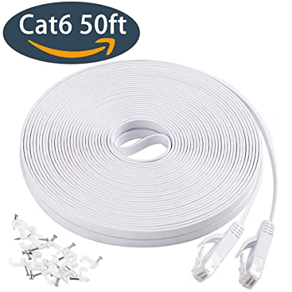 Amazon.com: Ethernet cable 50 ft, Cat 6 LAN Computer Network cable ...