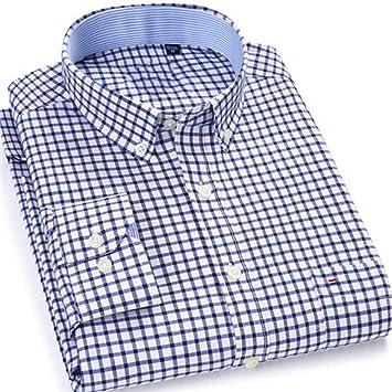 YAYLMKNA Camisa Camisa De Hombre Camisa De Vestir De Manga Larga para Hombre Camisas De Trabajo De Trabajo Sólido Hombre Mans Camisa A Rayas Completa, S: Amazon.es: Deportes y aire libre