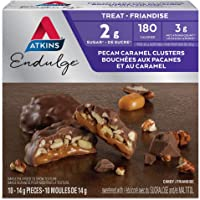 Atkins Endulge Treats, Pecan Caramel Clusters, 1g Sugar, 10 Count