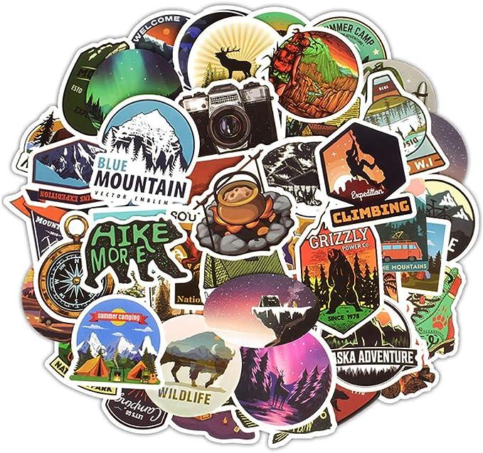50 Abenteuer Reise Stickerbomb Cartoon Retrosticker Aufkleber Sticker Mix Decals