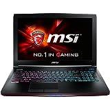 """MSI GE62 6QD-670XFR Ultrabook 15,6"""" Noir (Intel Core i7, 8 Go de RAM, 1 To, Nvidia GeForce GTX 960M) Sans Système"""