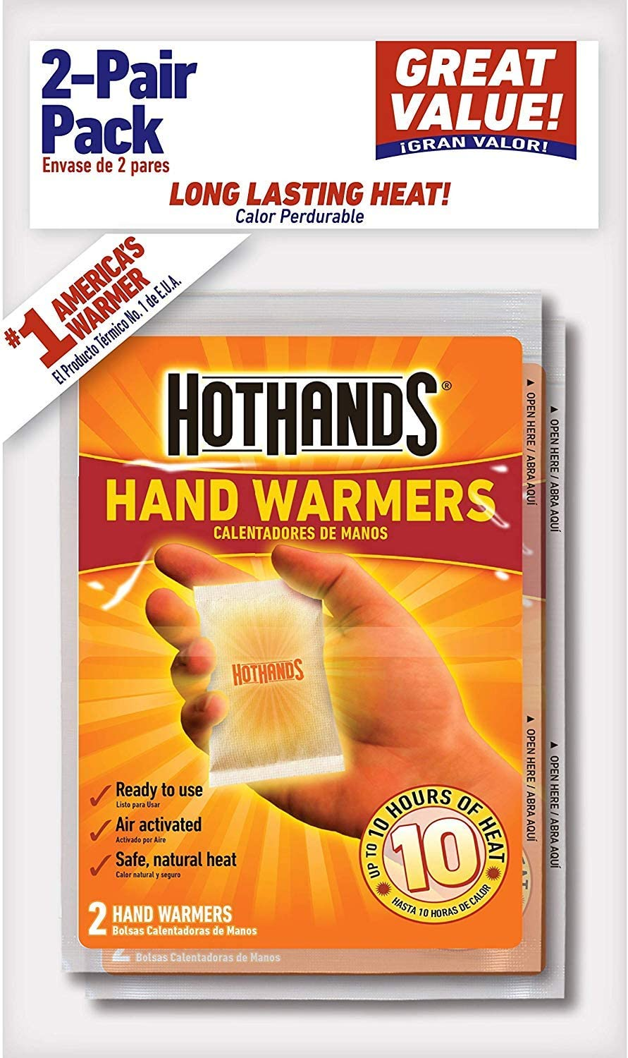 Bag of 8 Pieces HotHands Adhesive Body Warmer