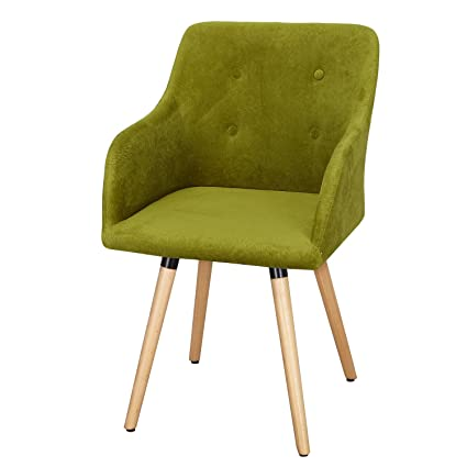 Etonnant ELEGAN Fabric Durable Leisure Chair With Buttons And Wood Leg