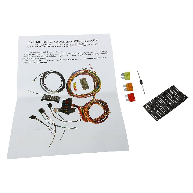 Blackhorse Racing 12 14 Circuit Wire Harness Us Gxl Hot Rod Wiring Kits Copper Streetrod Race Universal Fuse Automotive