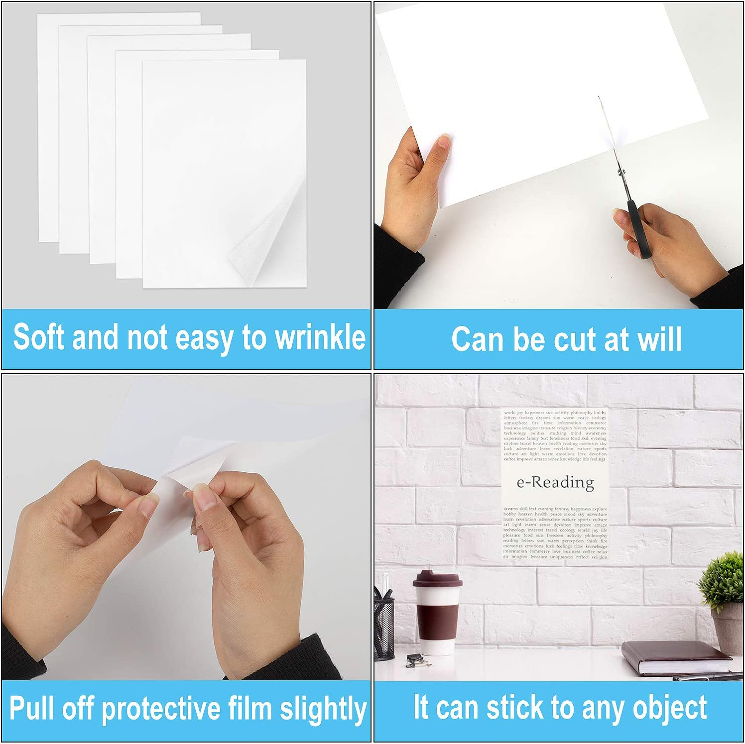 "Sticker Paper for Inkjet Printer 30 Sheets Vinyl Sticker Paper Glossy Waterproof - Size 8.5''x11"" A4 - Inkjet & Laser Printer: Office Products"