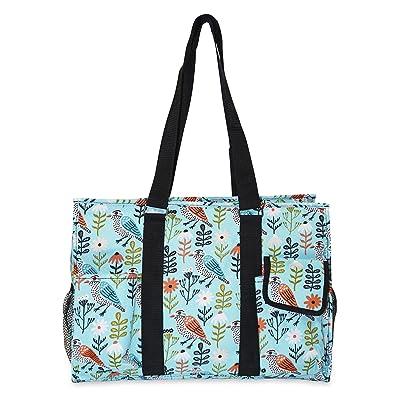 Ever Moda Bird Print Utility Tote Bag cheap