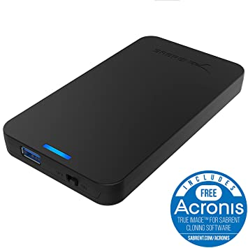 Sabrent Caja de disco duro externo sin herramientas SATA a USB 3.0 de 2.5 pulgadas [Optimizado para SSD, soporte UASP SATA III] Negro (EC-UASP)