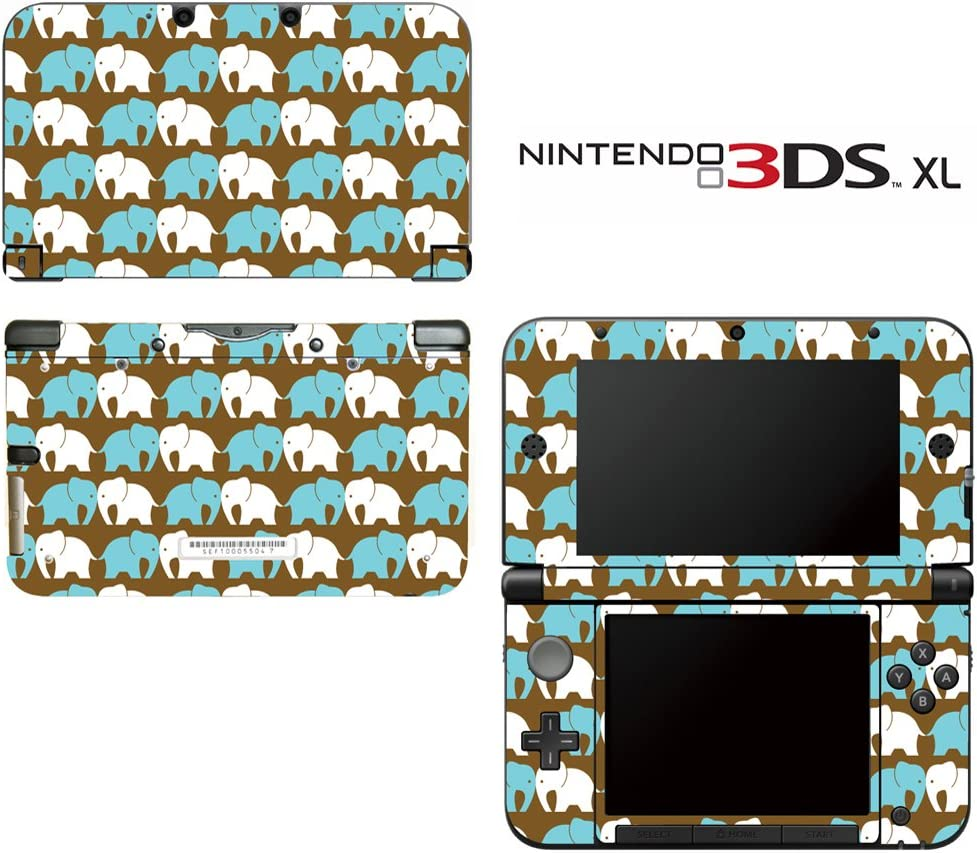 Elephant Pattern Decorative Video Game Decal Cover Skin Protector for Nintendo 3DS XL