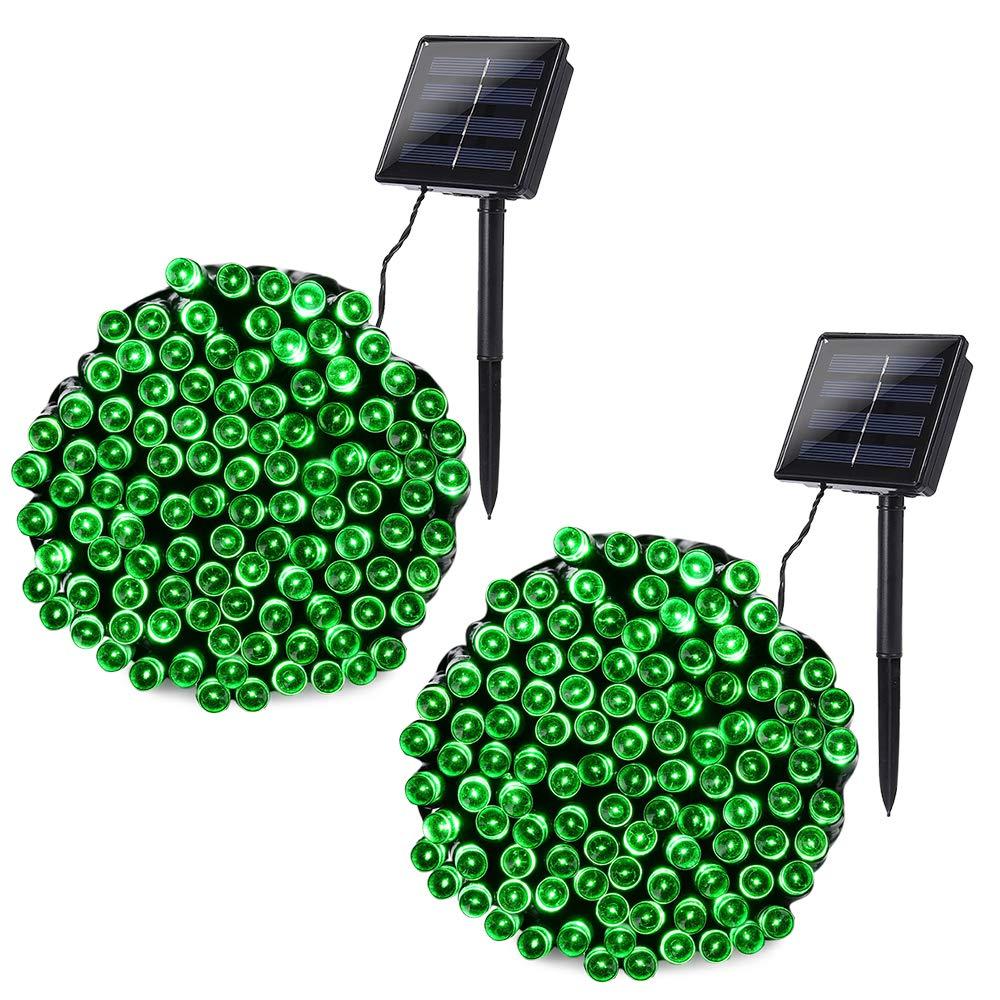 Solar Powered Christmas Lights.Joomer Solar String Lights 2 Pack 72ft 200 Led 8 Modes Solar Powered Christmas Lights Waterproof Decorative Fairy String Lights For Garden Patio