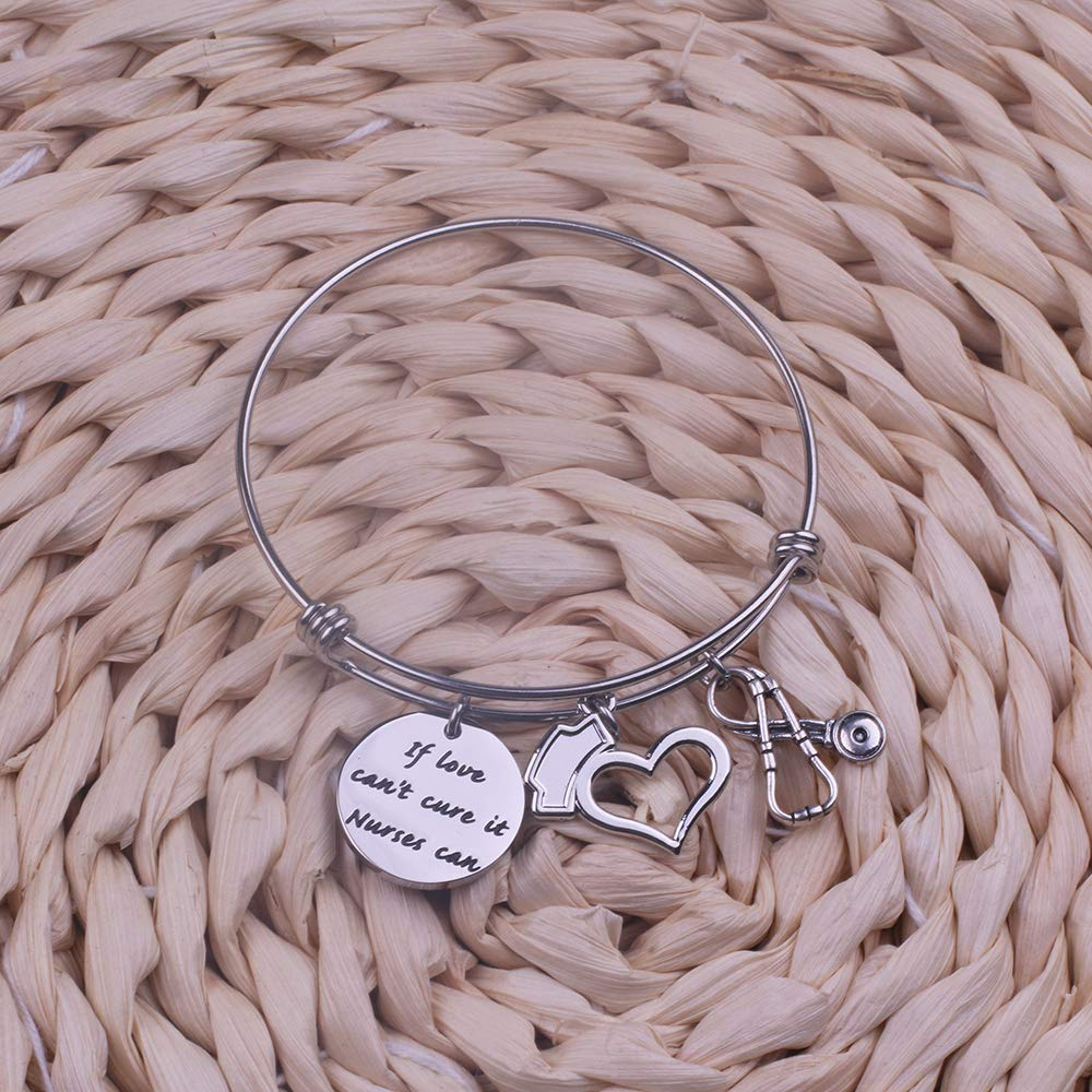 Anlive Nurse Bracelet If Love Cant Cure it Nurses Can for The Nurse Best Gifts