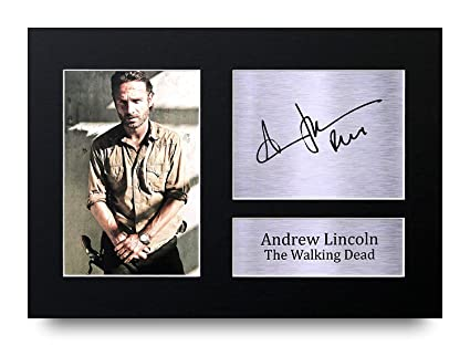 THE WALKING DEAD ANDREW  LINCOLN AUTOGRAMME+
