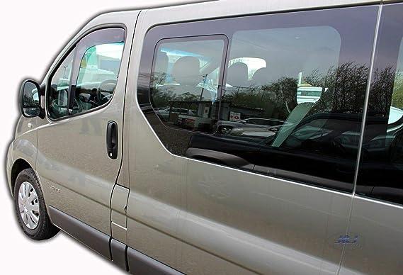 Pluie Déflecteur 2 Pcs Pour Renault Trafic à partir de 2001 fumée Vent