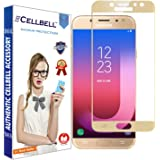 CELLBELL® Tempered Glass Screen Protector For Samsung Galaxy J7 Pro(5D)(GOLD) With FREE Installation Kit