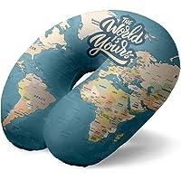 I-Total - Almohada de Viaje/Almohada de Viaje para el Cuello Suave para Soporte Cervical/Almohadas Almohada de Viaje…