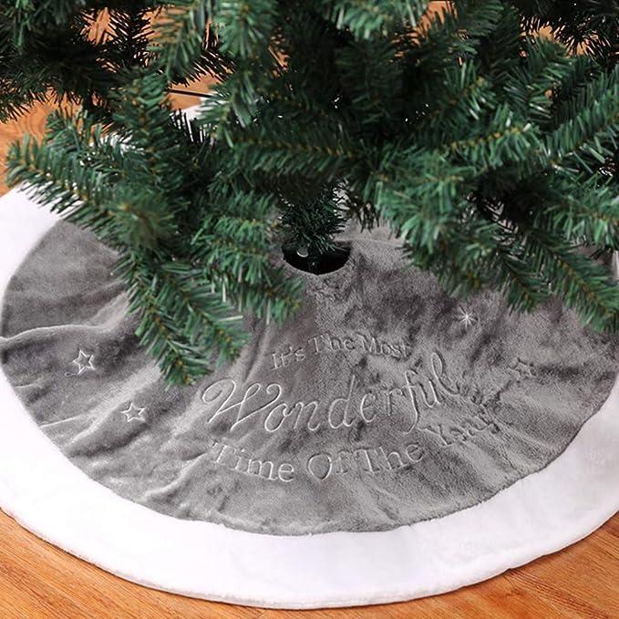 Christbaumdecke Weihnachtsdeko Weihnachtsbaum Rock Bodenmatte Tannenbaumdecke DE
