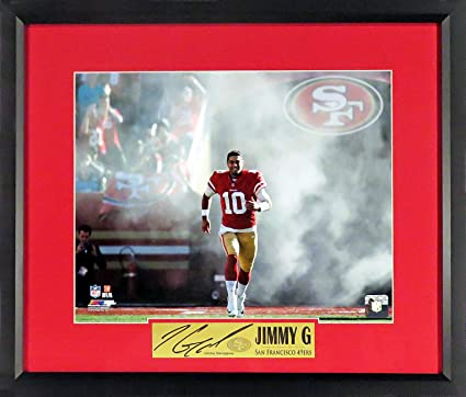 dc3f93df1 SF 49ers Jimmy Garoppolo quot Introducing Jimmy G! quot  11x14 Photograph (SGA  Signature