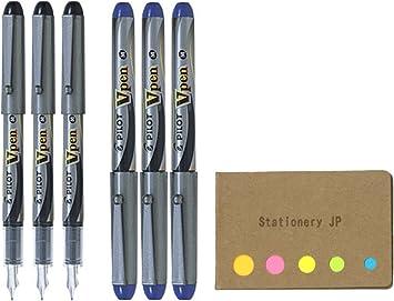 Black Ink Disposable Fountain Pens Varsity Pilot V Pen Medium Point...