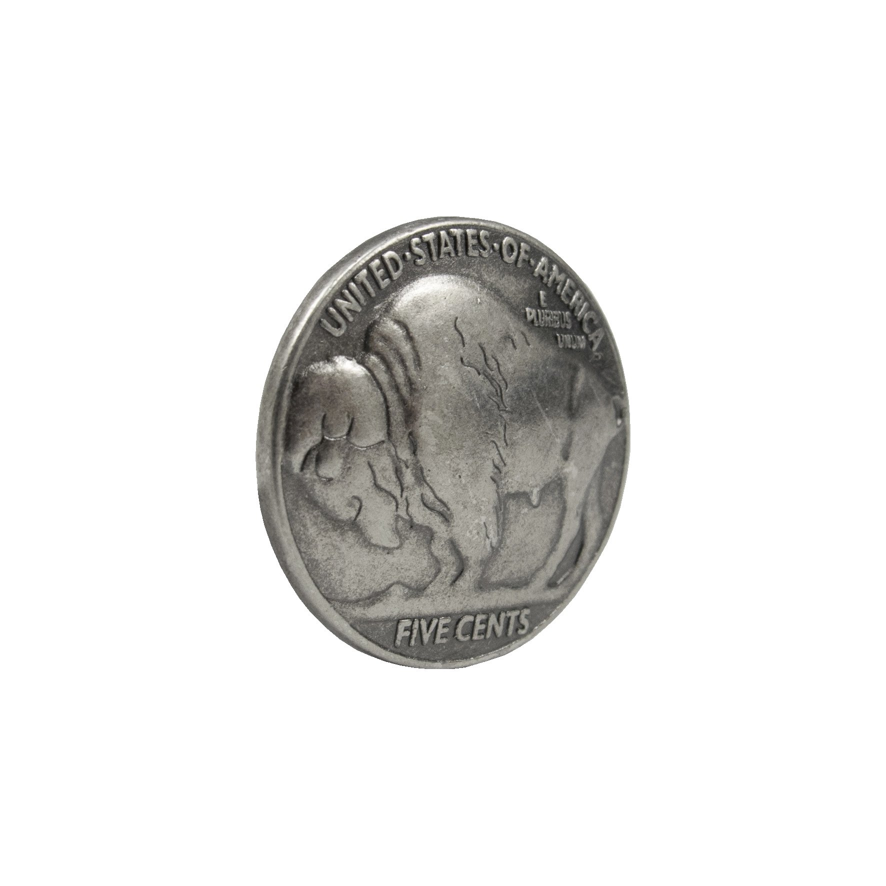 Springfield Leather Company Old Silver Buffalo Coin Upholstery Tack 50 Pack by Springfield Leather Company (Image #1)