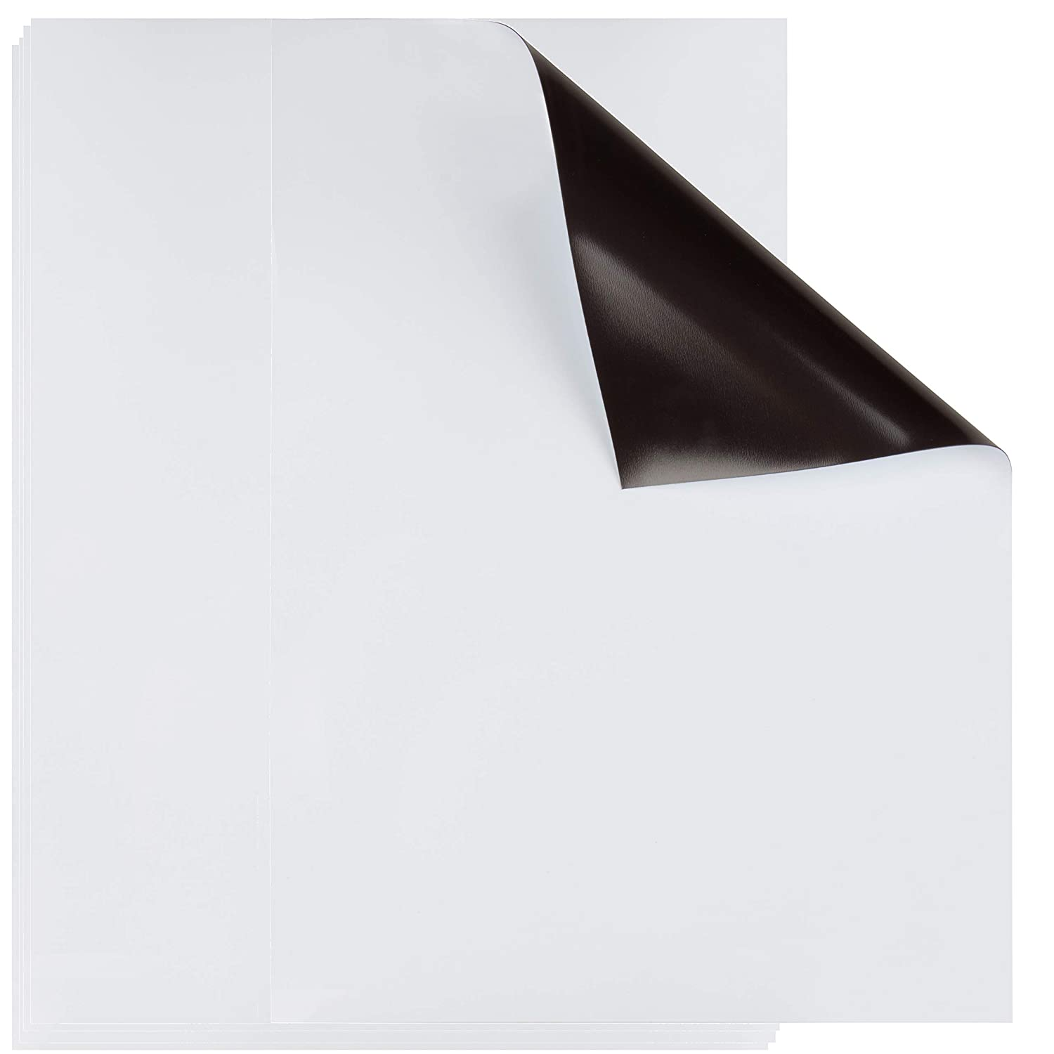 Magnetic Dry Erase Sheet - 5-Pack Dry Erase Boards for Refrigerator, and Metal Surfaces, Fridge Whiteboard Sheet, White, Medium, 9 x 12 Inches