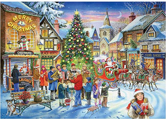 Amazon.com: 1000 Piece Puzzle for Adults Jigsaw Puzzles (Christmas 4): Toys & Games
