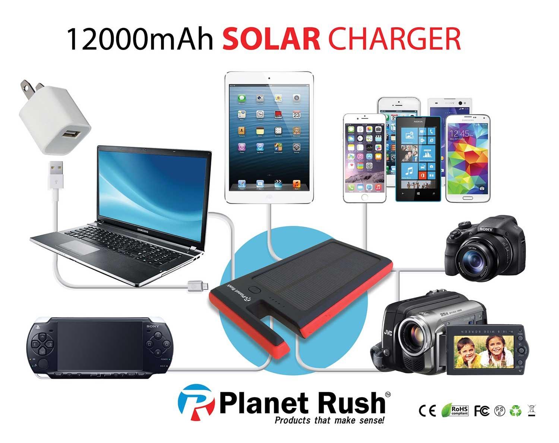 Amazon.com: Fours Seasons 4 In 1 USB Solar Panel Power Bank Phone Dock U0026  Flashlight Heavy Duty 12000 MAh Environmentally Friendly Durable  Lightweight ...