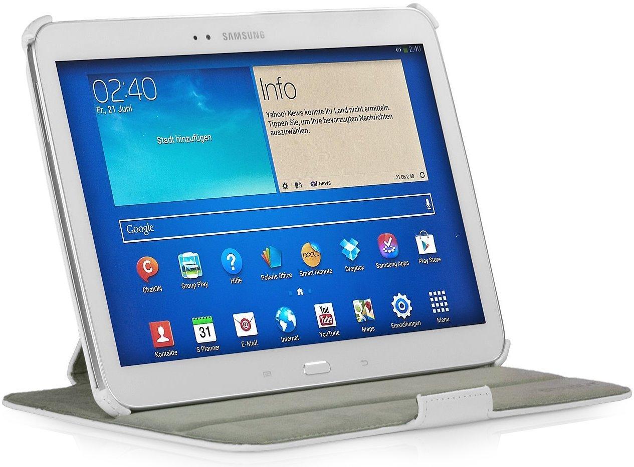StilGut UltraSlim Case V2, Funda con Funcion de Soporte para el Samsung Galaxy Tab 3 10.1, Blanco