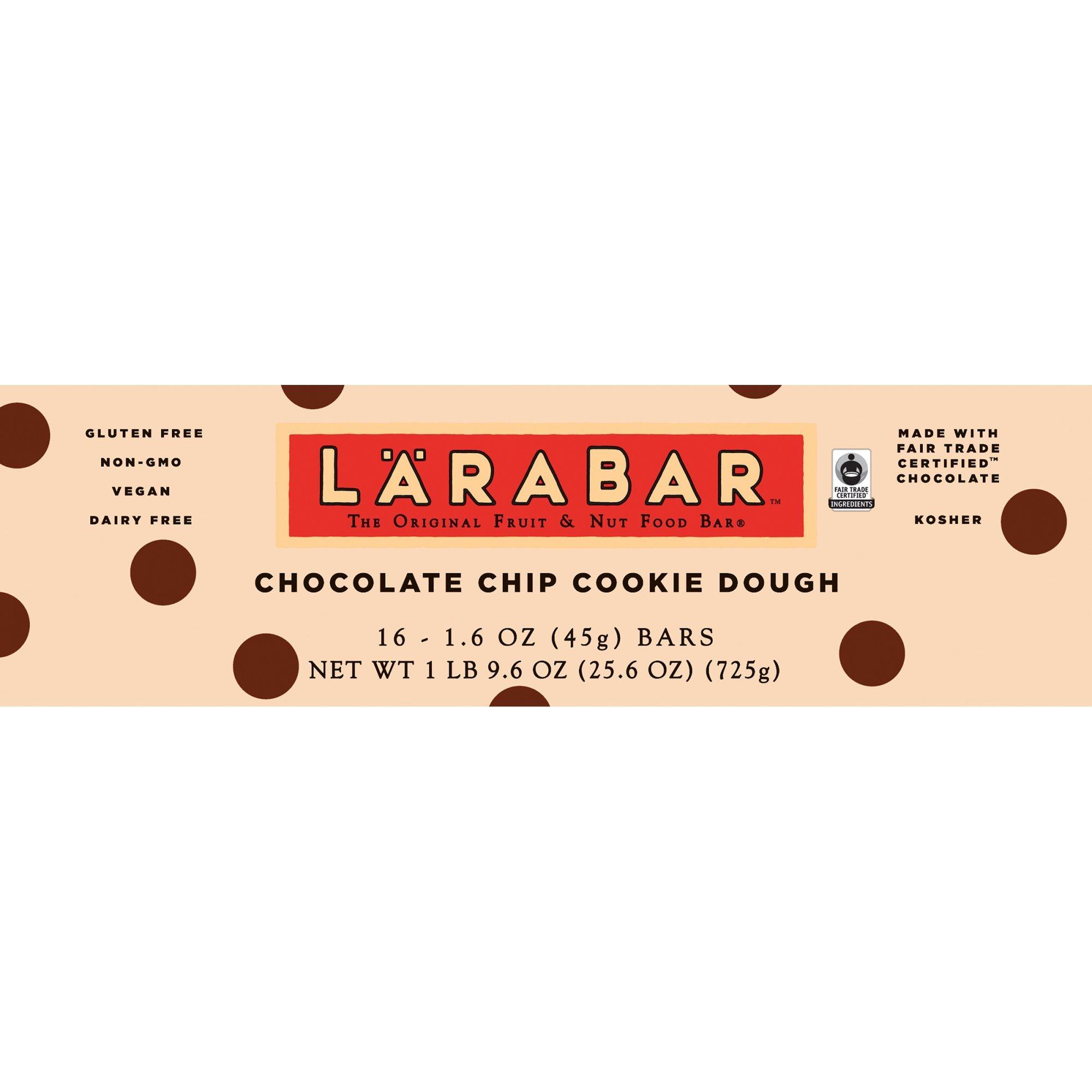 Lärabar Chocolate Chip Cookie Dough Fruit & Nut Bars 16 ct Box (Pack of 5) by Larabar (Image #5)