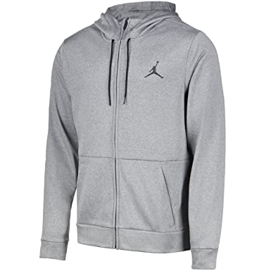 236d4e523e Nike Mens Jordan Therma Alpha 23 Full Zip Hoodie Carbon Heather/Black  872875-091