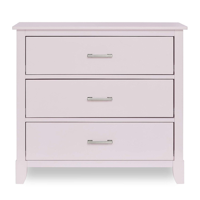 Dream on Me Universal 3 Drawers Chest | Kids Bedroom Dresser | Three Drawers Dresser Mid Century Modern, Blush Pink