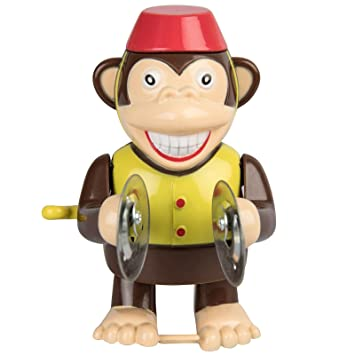 Amazon De Aufziehbare Kunststoff Figur Affe Mit Becken Sound Ca