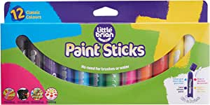 Little Brian Lbps10ca12 Classic Colours Paint Sticks (Pack of 12)