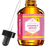 Vitamin E Serum by Leven Rose  Pure Organic All Natural Face, Dry Skin and Body Moisturizer Treatment, Hair and Nail Growth Oil, Pure Makeup Remover, Acne Cleansing Oil 4 ounce