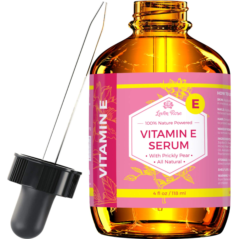Amazon.com : Vitamin E Serum by Leven Rose Pure Organic All Natural ...