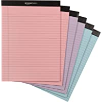 Amazon Basics Legal Pads, Pink, Orchid & Blue Color Paper, 6-Pack