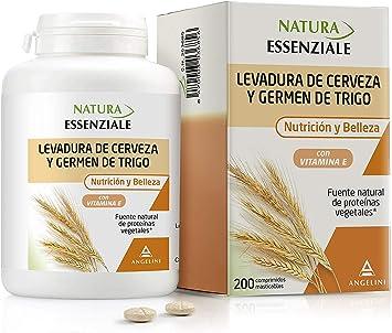NATURA ESSENZIALE Levadura de cerveza y Germen de Trigo - Fuente natural de proteínas - Complemento alimenticio con levadura de cerveza, germen de ...